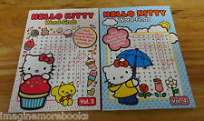 2 NEW Hello Kitty Word-Finds ~ Volume 3-4 ~ 81 word search puzzles per book