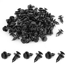 100 x 8mm Hole Dia Plastic Rivets Fastener Clips Black for Car Auto Fender