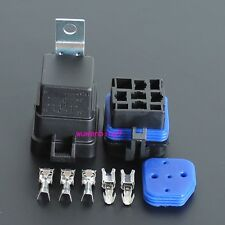 2 sets - Waterproof integrated  12v 40A  5pin auto relay and relay holder