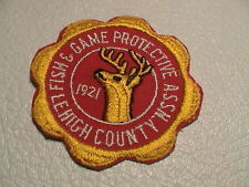 LEHIGH COUNTY PENNSYLVANIA PA FISH & GAME PROT. ASSN HUNTING FISHING CLUB PATCH