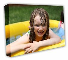 CANVAS PRINT Your PHOTO on A1 LARGE PERSONALISED BOX 30MM XL FRAMED 30X20 320GSM