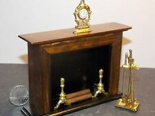 Dollhouse Miniature Fireplace with Tools 1:12 one inch scale D68 Dollys Gallery
