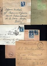 FRANCE 1863 1945 COLLECTION OF 5 COVER NAPOLEON ISSUE WAR TIME WWI TRESORET POST