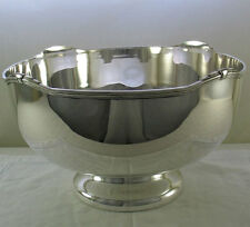Silver Punch Bowl with Jubilee, a Patented Applied Border