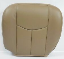 2003 2004 2005 GMC Sierra 1500 2500 3500,HD Driver Bottom LEATHER Seat Cover TAN