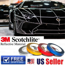 3M Silver Reflective Body Stripe Trim DIY Sticker Tape Sticker Decal 1CMx150FT