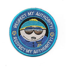 """South Park TV Series Officer Cartman """"Respect My Authority"""" Embroidered 3"""" Patch"""