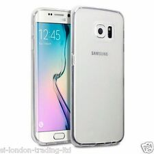 New Samsung Galaxy S6 Edge Thin Clear/Transparent Silicone Gel Case - UK Stock