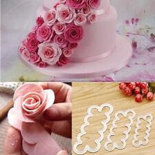 Wholesale 3x Rose Flower Fondant Cake Chocolate Sugarcraft Mould Mold Decor Tool