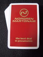 PACK of ADVERTISING PLAYING CARDS - NORGREN MARTONAIR - PNEUMATICS