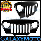 Gloss Black Jeep TJ 97-06 Wrangler ABS Overlay Grille Shell Angry Bird Style 4x4