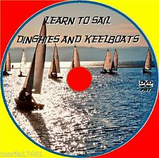 LEARN HOW TO SAIL SMALL BOATS KEELBOAT + DINGHIES EASY BEGINNERS GUIDE DVD NEW