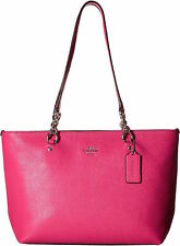 NWT COACH SOPHIA DAHLIA PINK POLISHED PEBBLED LEATHER SMALL TOTE PURSE 36604