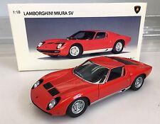 Lamborghini Miura SV Red 1/18 Diecast Car Autoart Millenium 74543