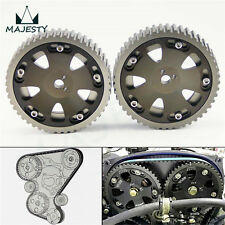 2Pcs Cam Gear Pulley Kit Fit Mitsubishi Lancer EVO 1-9 ECLIPSE DSM 4G63 Gray