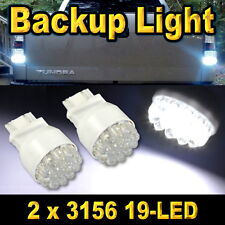 Pair 3156 19-LED Xenon White Led Car Back Up Reverse Light Bulbs 3155 3456