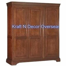 Comtempory Almira/3 Door Wardrobe of Shesham Wood in Brown Colour