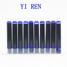 High quality YIREN 10pcs Blue ink Refill fountain Pen New