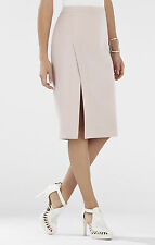 BCBG MAX AZRIA 'Grace' Pencil Skirt with Split in Light Pastel Pink - NEW - 0