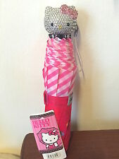 Bling Hello Kitty Crystal Diamond Folding Umbrella! Best Gift