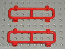 2 x Barriere  LEGO red fence ref 2486 / Set 6394 6426 6338 6464 6548 6435 6355