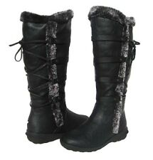 New Women's BOOTS Knee High Winter Fur Lined Snow Black shoe Ladies size 5.5