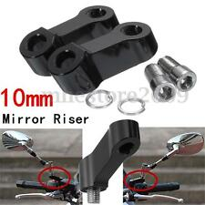 2 x CNC 10MM M10 MOTORCYCLE BIKE MIRROR RISER EXTENDER ADAPTOR/ADAPTER MOUNTS