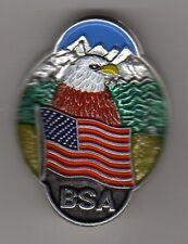 Eagle & US Flag Boy Scout Hiking Stick Medallion, Mint in Pkg!
