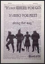 Wizard Of Oz Frase Vintage Diccionario Estampado Decoración Pared Imagen Dorothy