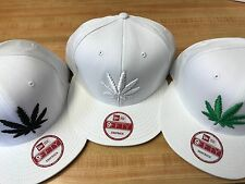 NEW ERA CUSTOM RARE MARIJUANA CANNABIS  POT HEMP LEAF PLANT  CAP HAT SNAPBACK