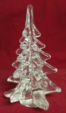 "CLEAR Glass CHRISTMAS TREE 6"" Evergreen"