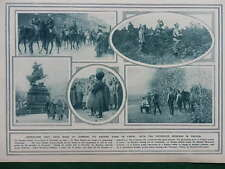 1915 VICTORIOUS RUSSIANS IN GALICIA LEMBERG LWOW; GERMAN FUNERAL SERVICE WWI WW1