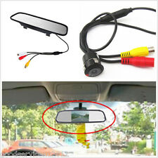 18.5mm HD Car Reverse Camera Drilling Accessories & LCD Rearview Mirror Monitor