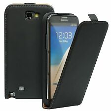 Pour Samsung Galaxy Note 2 - Etui Housse Vertical Cuir synthétique + 1 Film
