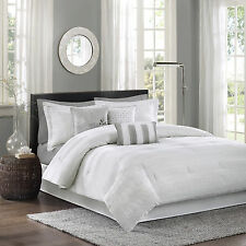 White King Comforter Set Duvet Cover 7 Piece Luxury Bedding Sham Pillow Hampton