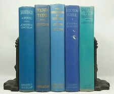1918~JOSEPH LINCOLN~Antique BLUE Shades Set~5 Book Lot~Old Decorative Collection