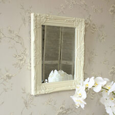 Ornate Cream rococo wall mirror shabby vintage chic bedroom hallway living room