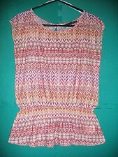 Ladies Size 14 Autumn Shades Silky-Feel Sleeveless Tunic Top by Atmosphere
