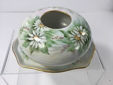 Antique, Limoges W.G. Co.Green Flowers Hair Receiver & Tray,1890's-1930's France