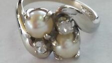 10K Culture Pearl Solid White Gold Ring!