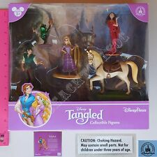 New Disney Parks Tangled Collectible Figures 5 Pcs Play Set Cake Topper Rapunzel