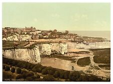 Large A3 Taille Victorien Vue de Broadstairs Cliff Repro Ancienne Photo