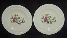 WONDERFUL VINTAGE CHILDREN'S PLATES - MARY HAD A LITTLE LAMB - CUTE!