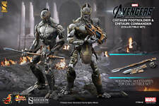 """CHITAURI COMMANDER AND FOOTSOLDIER THE AVENGERS MARVEL 12"""" FIGUR HOT TOYS"""
