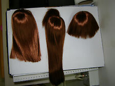 "7"" wigs for bjd dolls.1/4 MSD. for minifee.lot 3 new wigs for doll 40-45cm.hair"