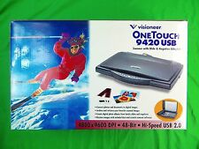 Visioneer One Touch 9420 USB Scanner w/ Slide & Negative Adapter
