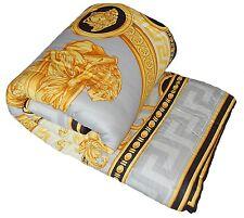 Versace La Coupe De Dieux Baroque Medusa King Size Comforter Grey/Black