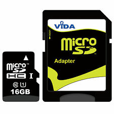 New Vida IT 16GB Micro SD SDHC TF Memory Card For GPS Car Sat Navigation UK