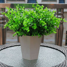 1 Set Artificial Plastic Green Small Eucalyptus Potted Plant Flower Home Decor