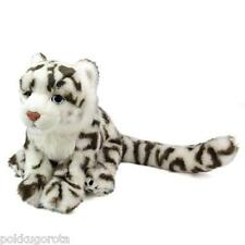 Real Stuffed Snow leopard Child COLORATA Plush animal Family Series